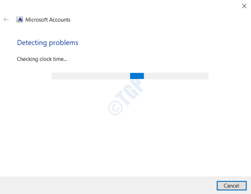 Account Troubleshooter Detecting
