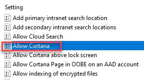 Allow Cortana Dc Min