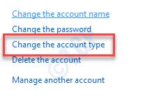 Change The Account Type Min