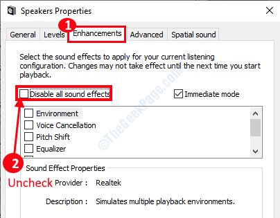 Disable Audio Enhancements Min