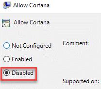 Disabled Policy Cortana Min