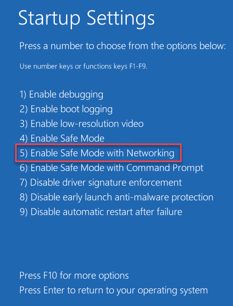 Enable Safe Mode With Networking Min