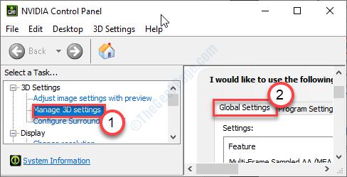 Global Settings Tab