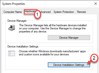 Hardware Device Installation Settings Min