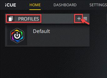 Icue Home Profiles Plus Icon