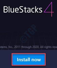Install Now Bluestacks Min