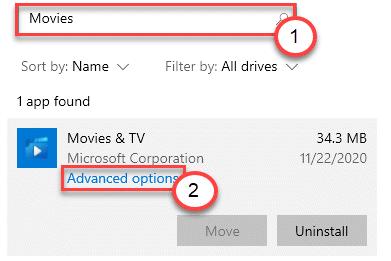 Movies Advanced Options Min