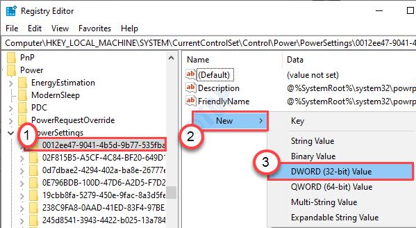 New Dword Power Settings Min