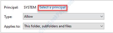 Select A Principal