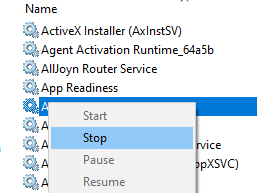 Stop Adsm Service