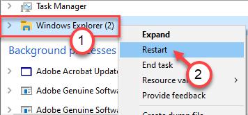 Windows Explorer End Task Min Min