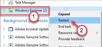 Windows Explorer End Task Min