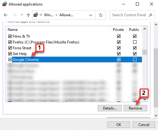Allowed Applications Google Chrome Remove