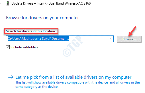 Browse For Drivers On Your Computer Search For Drivers In This Location Browse