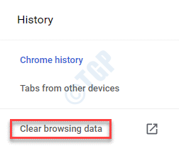 Chrome History Clear Browsing Data