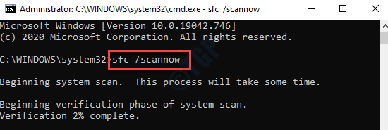 Command Prompt (admin) Run Sfc Scannow Command Enter