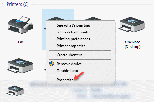 Devices And Printers Printers Right Click On The Printer Properties