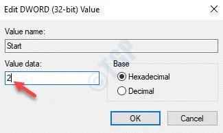Edit Dword (32 Bit) Value Value Data Change To 2 Ok