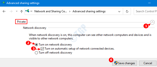 Enable Network Discovery For Private Network