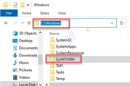File Explorer C Drive Windows Syswow64