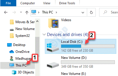 File Explorer This Pc C Drive