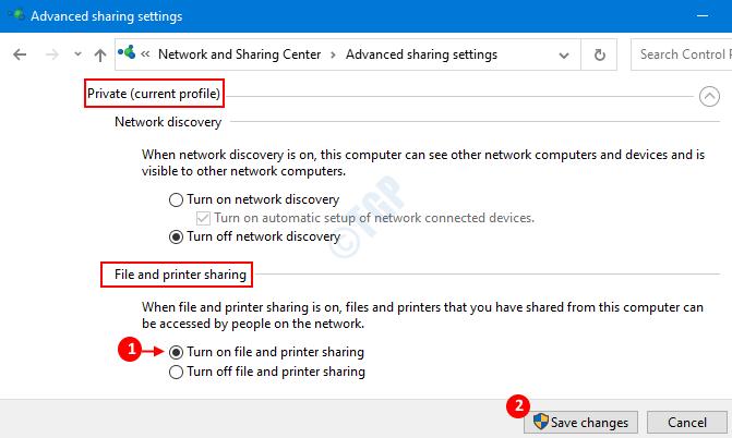 File And Printer Sharing