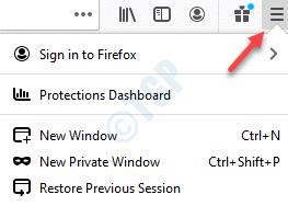 Firefox Browser Open Menu Help
