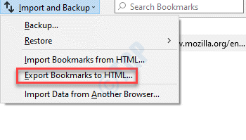 Import And Backup Export Bookmarks To Html