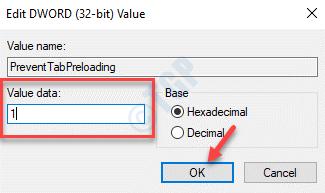 Preventtabpreloading Edit Dword (32 Bit) Value Value Data 0 Ok