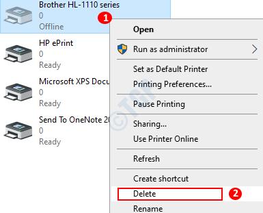 Printers Remove Printer Way 2