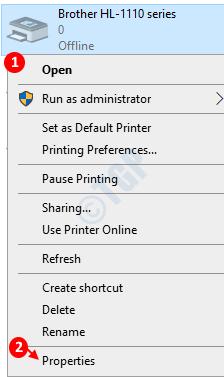 Properties Printer