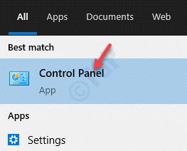 Result Control Panel Left Click