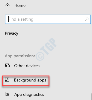 Settings Privacy Background Apps