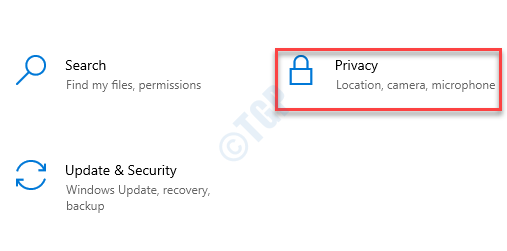 Settings Privacy
