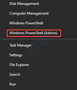 Start Menu Right Click Windows Powershell (admin)
