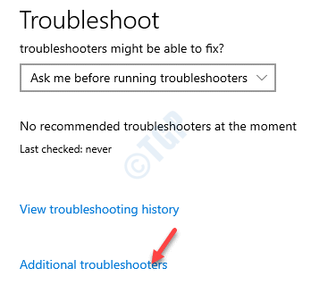 Troubleshoot Additional Troubleshooters