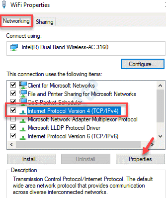 Wifi Properties Networking Internet Protocol 4 (ipv4) Properties