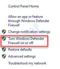 Windows Defender Firewall Turn Windows Defender Firewall On Or Off