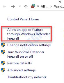 Allow An App
