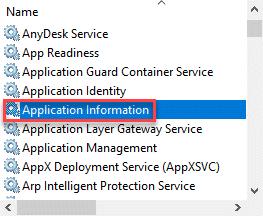 Application Info Start Min