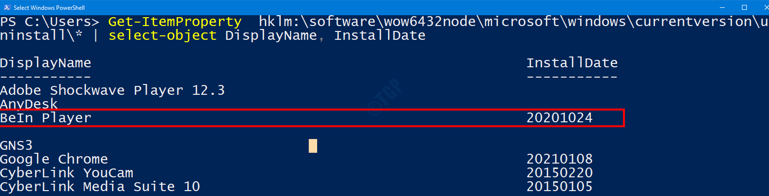 Date From Powershell