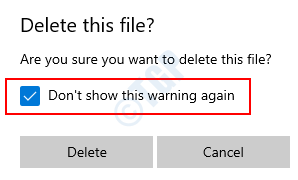 Delete This File Dialogue