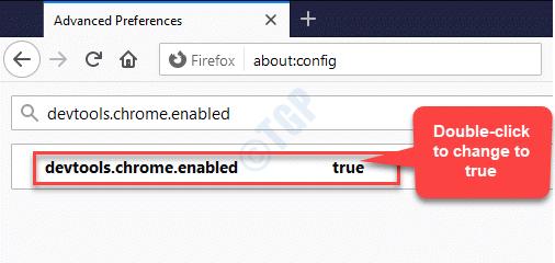 Devtools.chrome.enabled False Double Click True