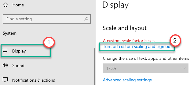 Display Turn Off Custom Scaling Min