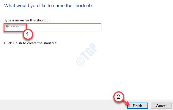 Name The Shortcut Finish Min