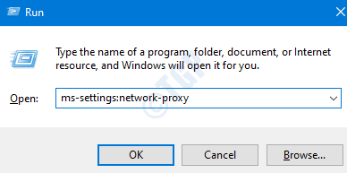 Network Proxy Settings