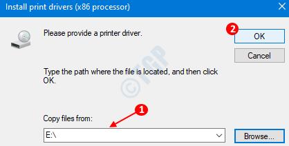 Printer Driver Window