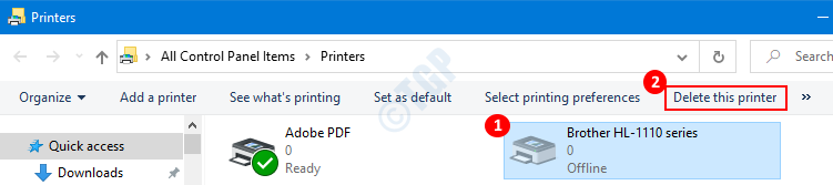 Remove Printers In Printers Folder