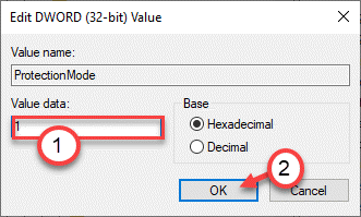 Value Data 1 Ok Min
