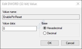 set value 0